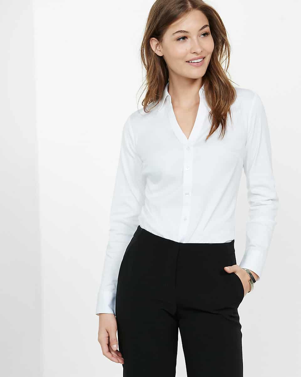 crisp white top to wear to jury duty