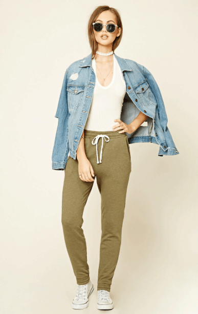 how to wear joggers - casual joggers from Forever21