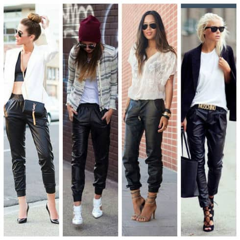how to wear joggers - 4 looks for leather joggers