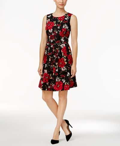 date night dresses - floral fit and flare dress