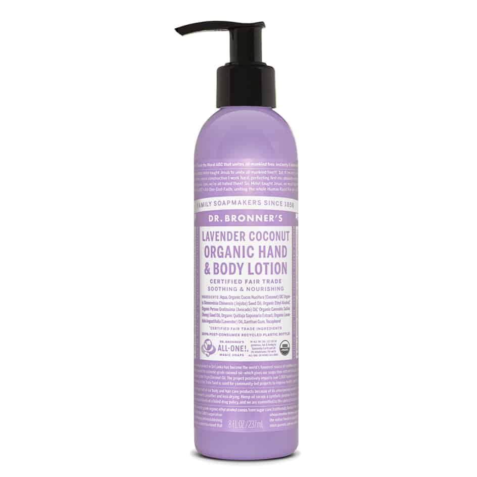 all natural beauty products - dr bronners lotion