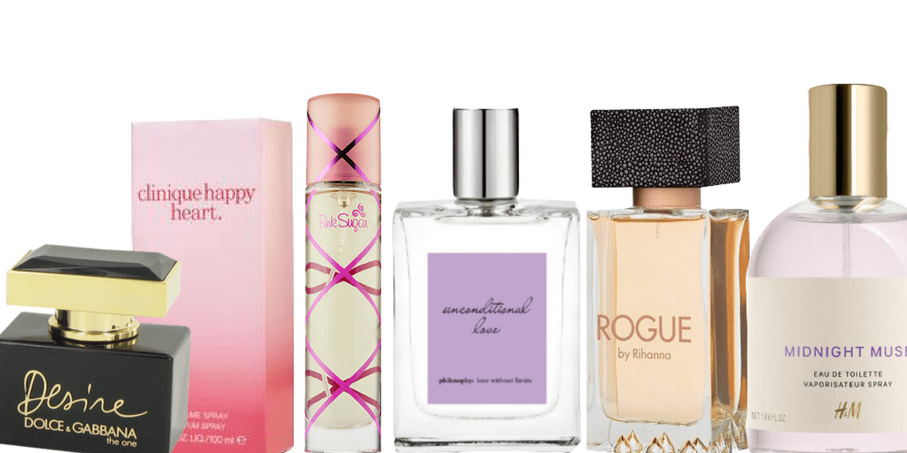 best perfumes for women - collage of 6 best perfumes