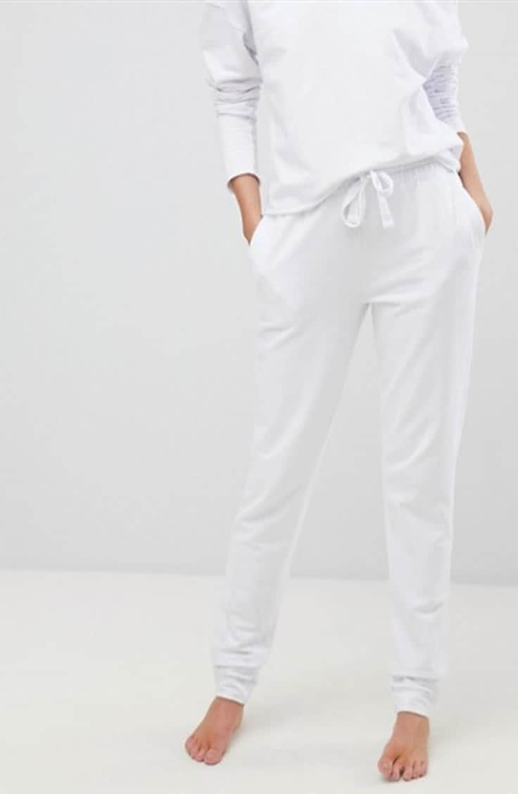 All white jogger set from ASOS