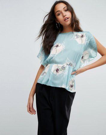 spring fashion 2017 - floral tea blouse