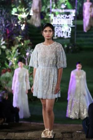 lakme fashion week - anita dogre short and sheer dress