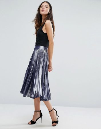 marcel ostertag fashion for less - metallic skirt