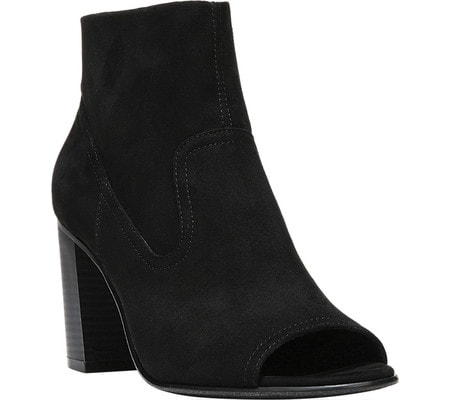 spring fashion trends - open toe, black booties