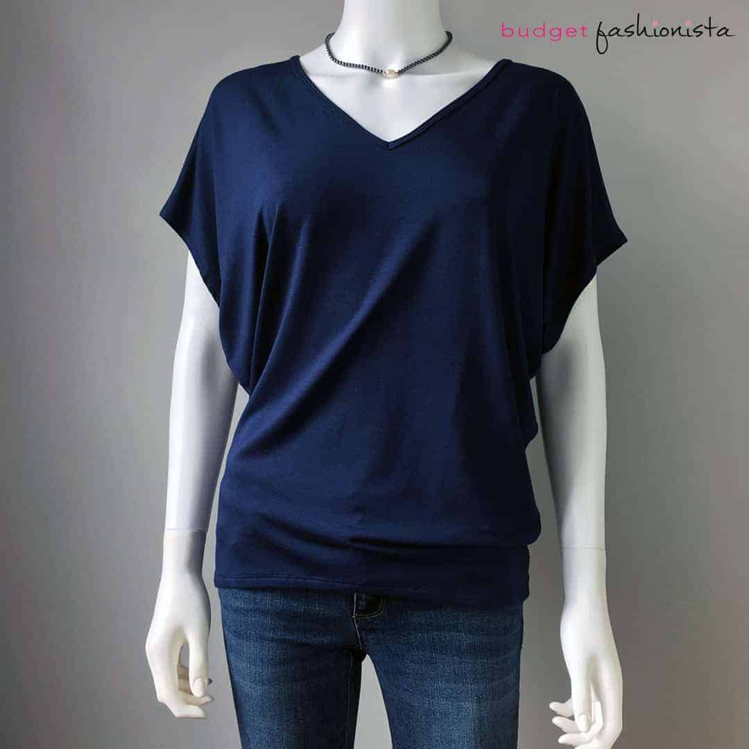 sustainable fashion - v-neck tee made of sustainable modal jersey