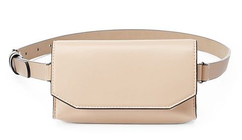 runway inspired spring accessories - faux leather fanny pack