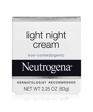 neutrogena light night cream for glowing skin