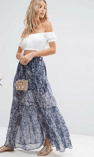 oscars style - floral skirt