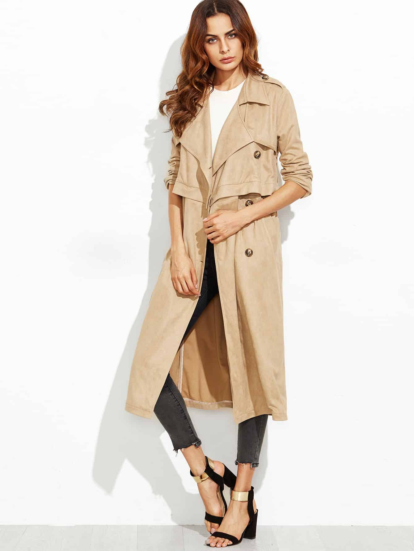 noon by noor look for less -- camel trenchcoat