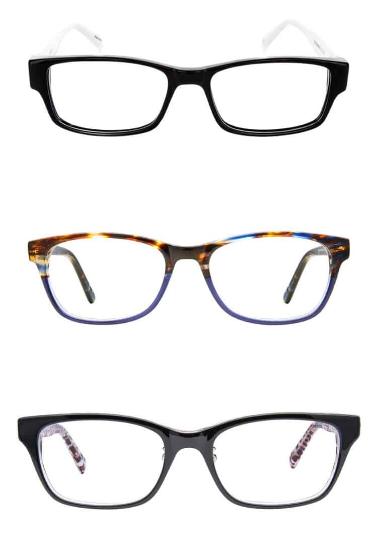 3 eyeglass frames for oval shaped faces
