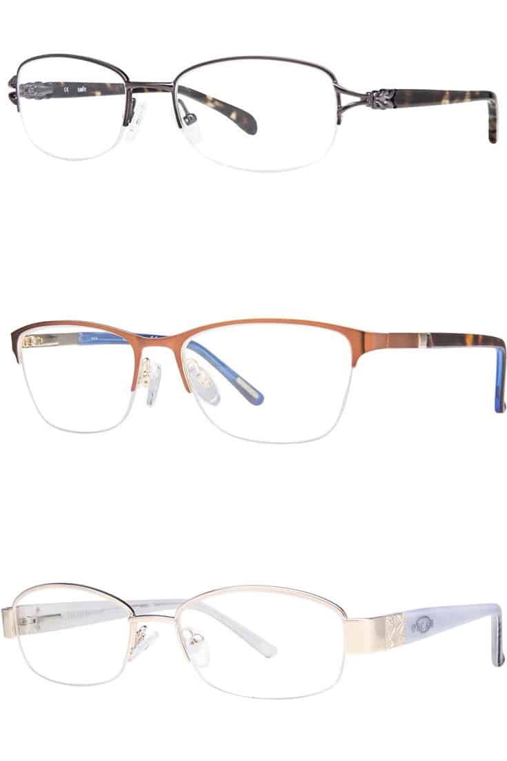 collection of eyeglass frames for diamond-shaped faces