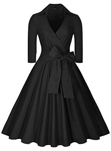 Mother of the bride dresses - black classic swing dress
