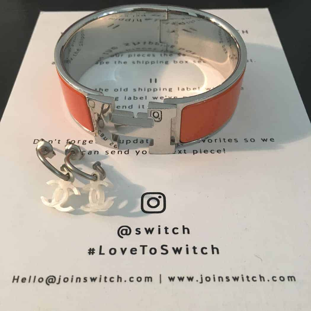 Switch Jewelry subscription - Hermes bracelet and Chanel earrings