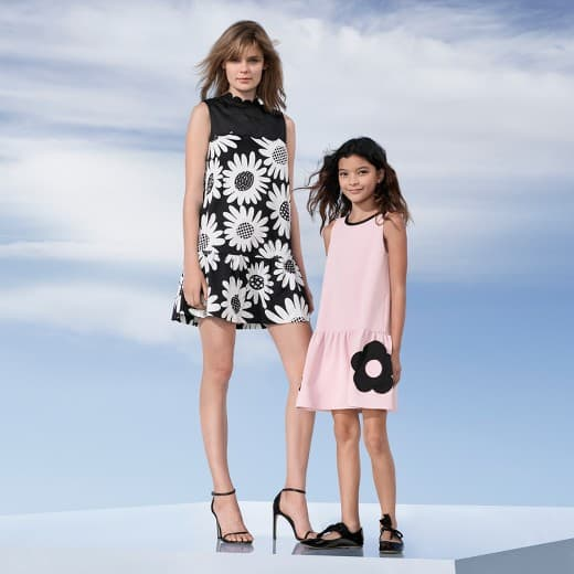 victoria beckham collection for target - pink girls' drop waist dress