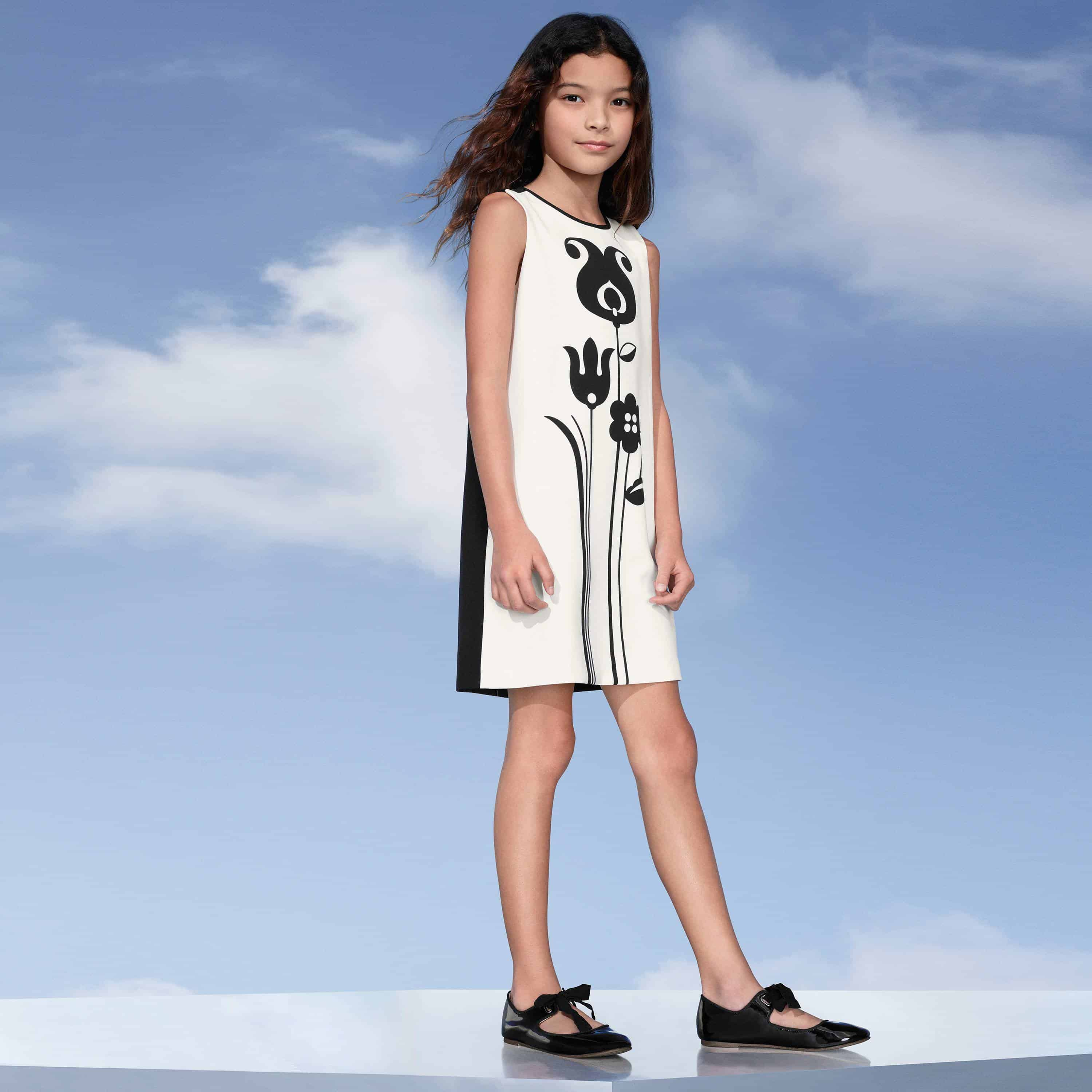 victoria beckham collection for target - girls shift dress with tulip design