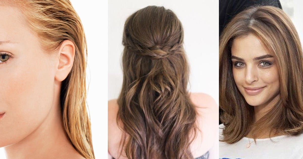 collage of three hairstyles for wedding guests