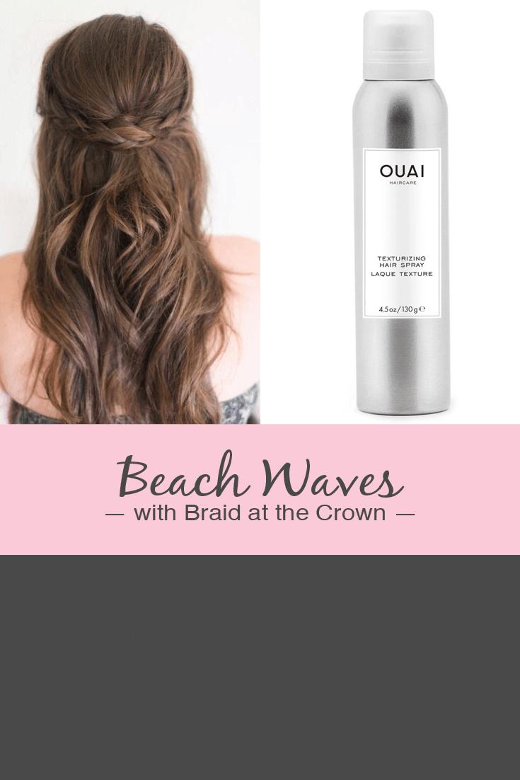 wedding guest hair ideas - use texturizing spray over curls for beach waves