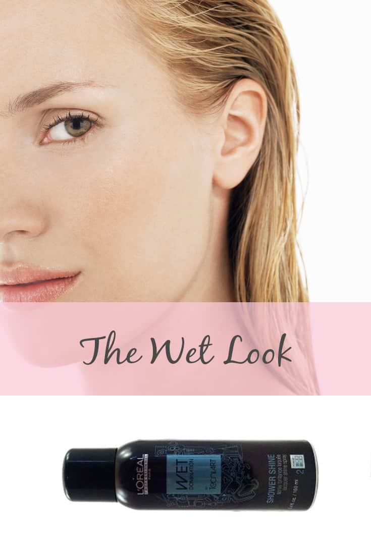 wet look hairstyle for wedding guests