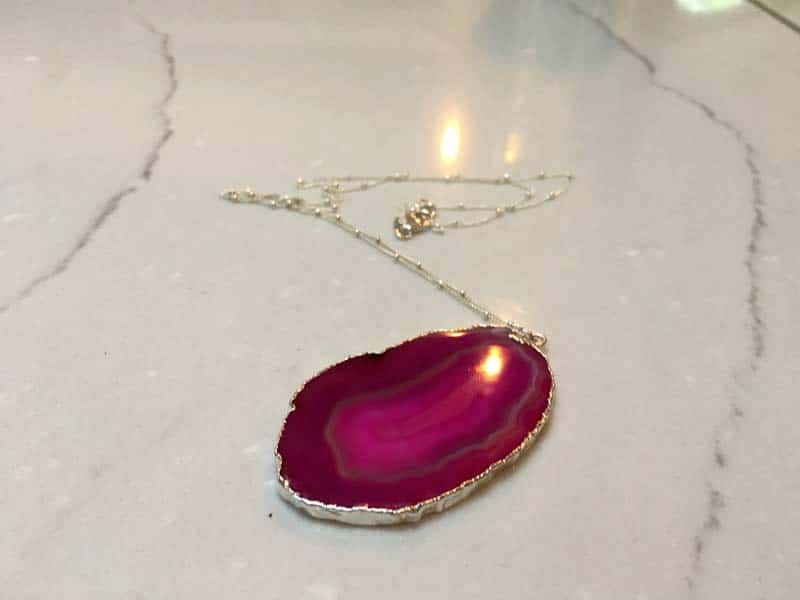 Mothers Day Jewelry Gifts - pink agate necklace