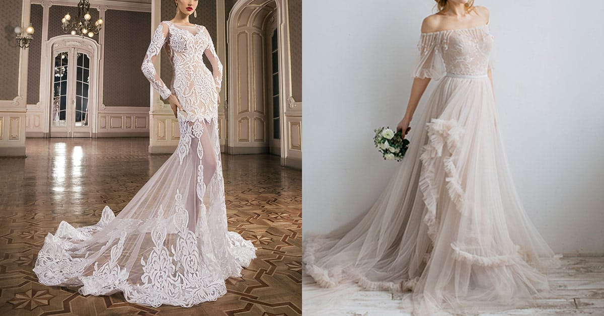 Wedding dress designs from Devotion Dresses