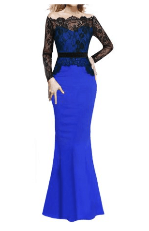 prom dress trends - two piece dress with lace overlay