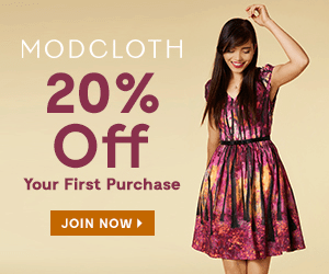Modcloth —20% Off for New Customers