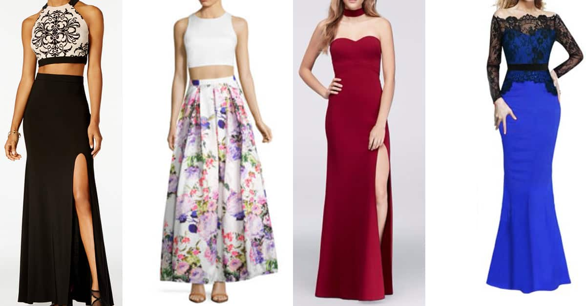 prom dresses trend - two-piece dresses