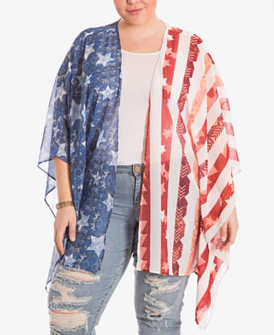 4th of July Collection: Red, white and blue cardigan