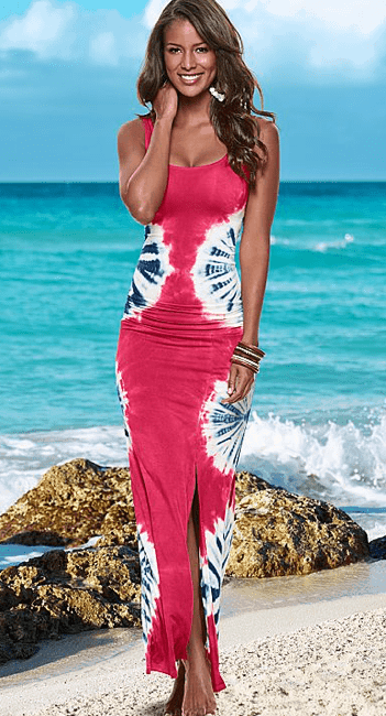 4th of July Fashion Collection: Red, White and Blue Maxi Dress