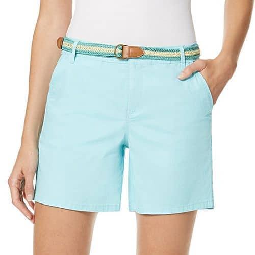 Aqua mid-length shorts for women over 50