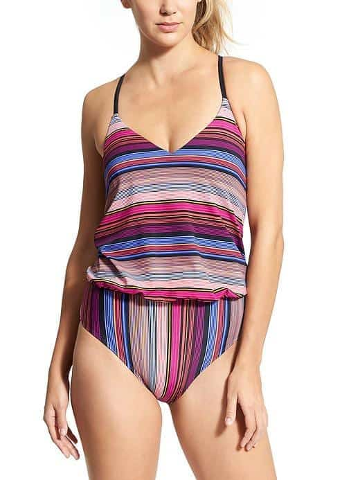 Striped one-piece suit from Athlete