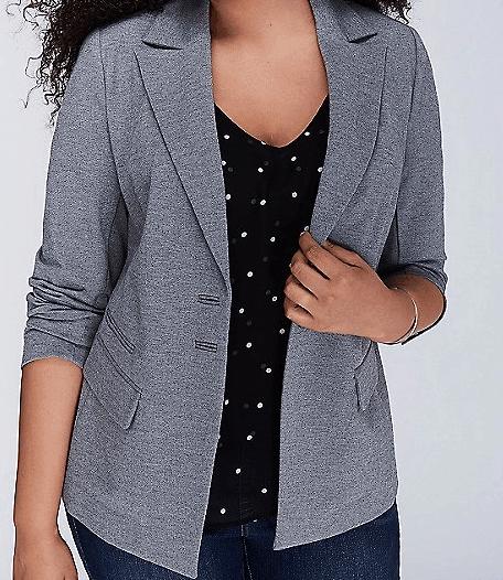 Gray Plus Size Blazer