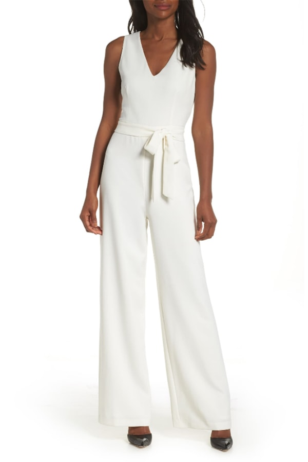 Vince Camuto white jumpsuit
