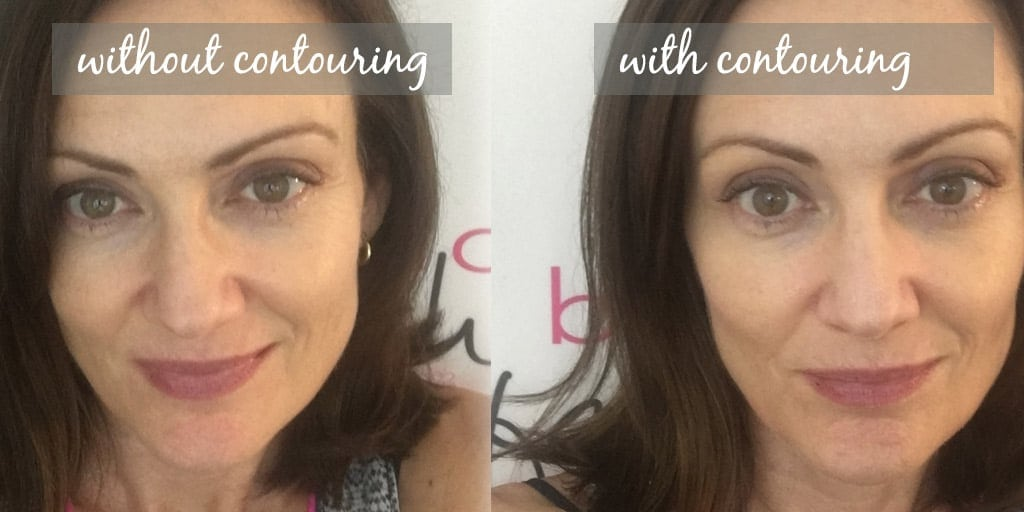Facial contouring, before and after
