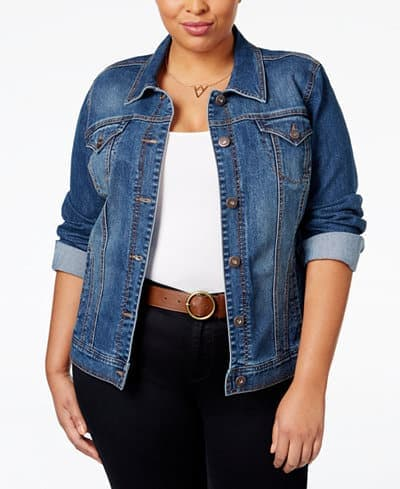Plus size denim jacket from our fashion for women over 70 collection