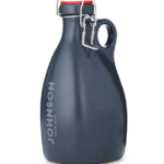 Black custom etched growler from UncommonGoods
