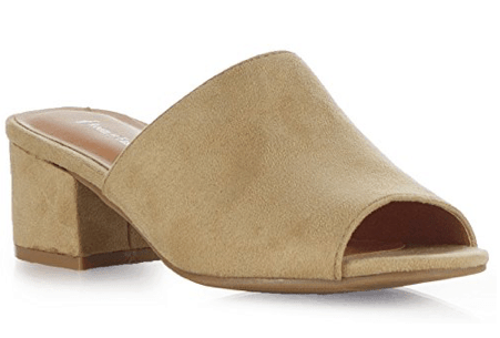 Suede mules for women over 70