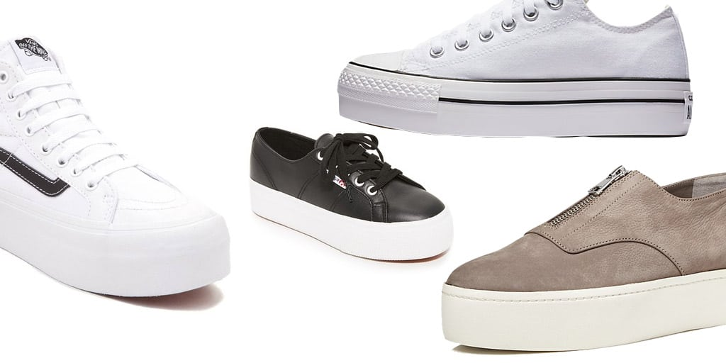 Collage of platform sneakers