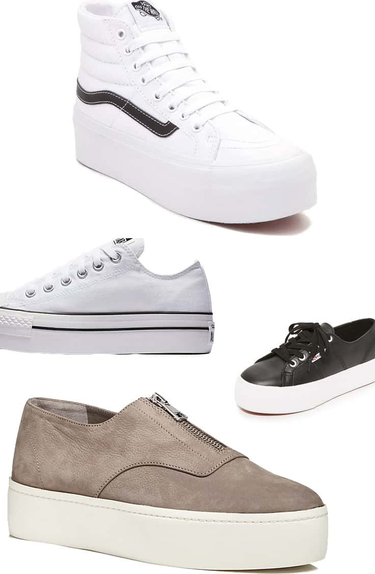 platform sneakers collage
