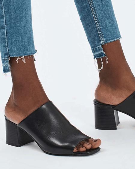 step hem jeans with slides