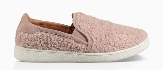 UGG furry slip-on sneakers