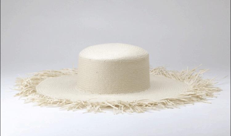 Classic, Brigitte Bardot inspired straw beach hat