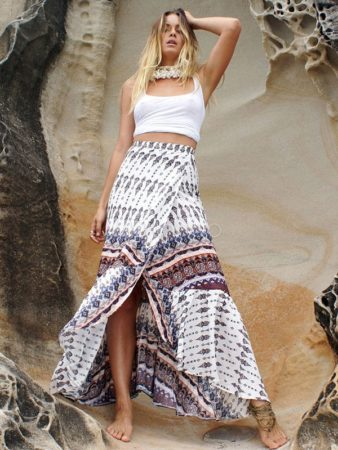 Tank top and maxi skirt outfit