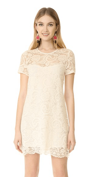 Off white dress with crochet detail