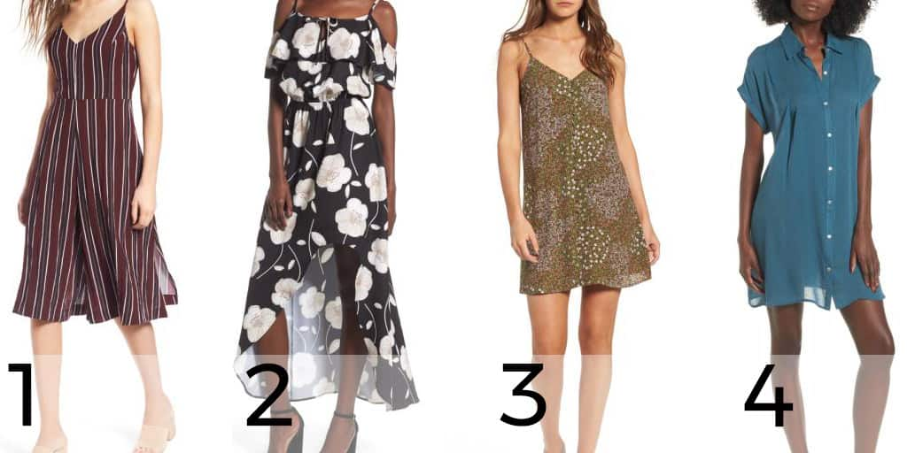 Four dresses priced under $50 from the Nordstrom Anniversary Sale