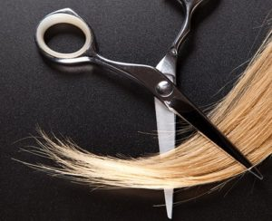 Hair and scissors