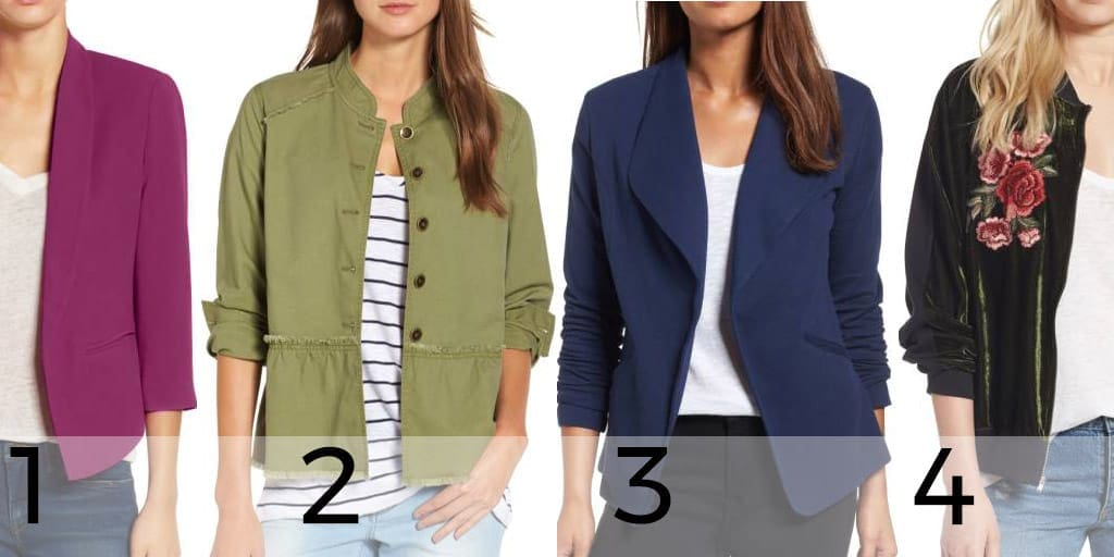 Two blazers and two jackets under $50 from Nordstrom Anniversary Sale